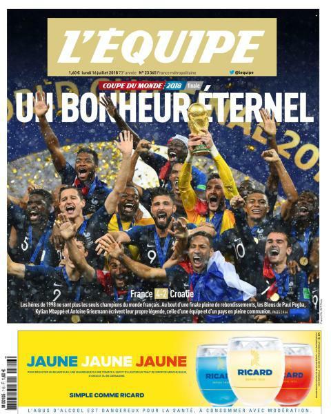 L'equipe du Lundi 16 Juillet 2018 PDF